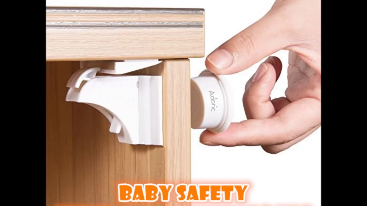 Adoric Baby Children Safety Magnetic Cabinet Locks Youtube