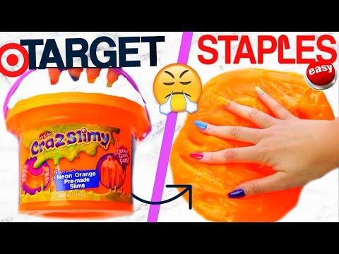 TARGET SLIME VS STAPLES SLIME!! Which is WORTH it..?!