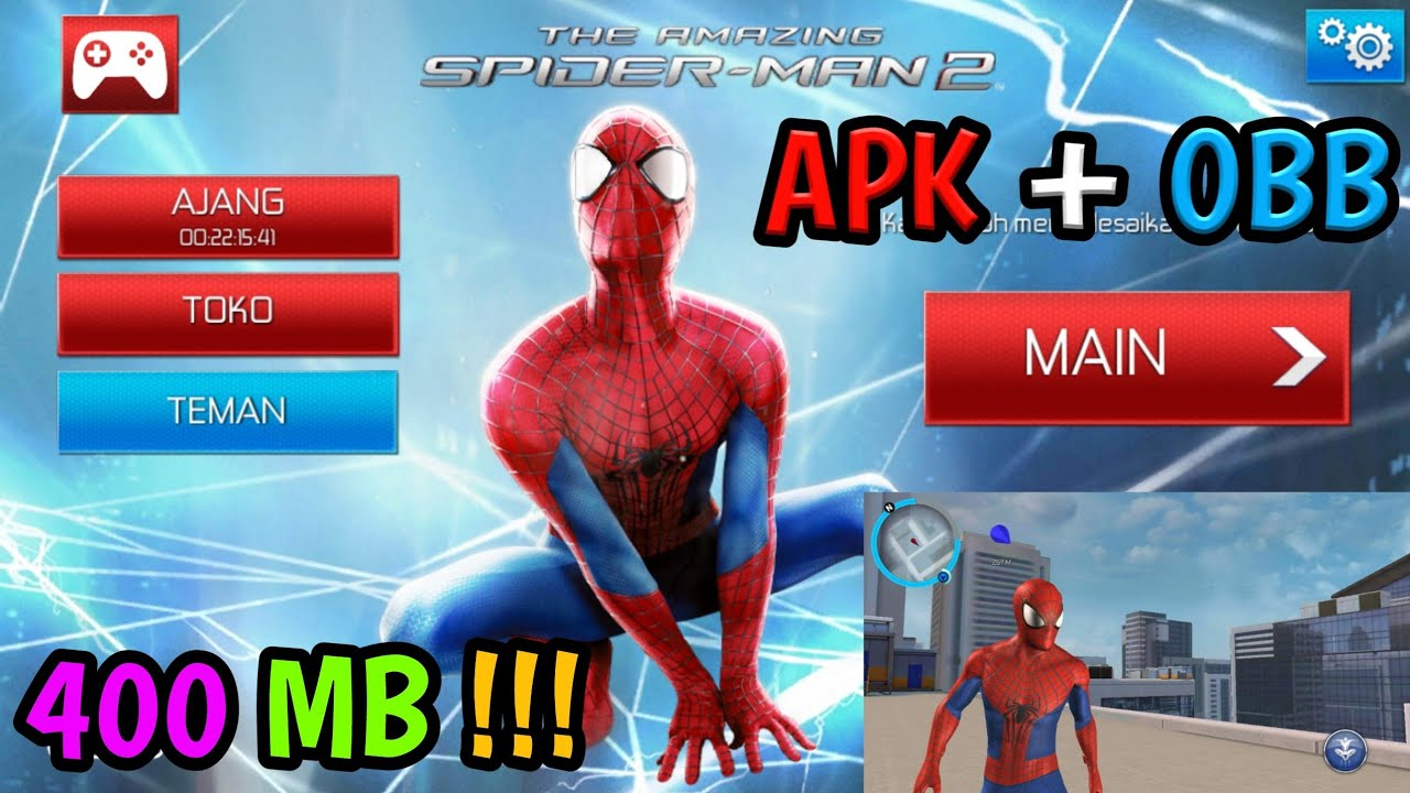 The Amazing Spider-Man 2 1.2.5i Apk + Obb ( All Gpu / Suport Os Nougat ) Android  #Smartphone #Android