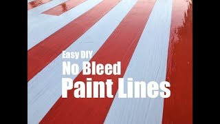 Easy No Bleed Paint Lines with Painters Tape or Stencils
