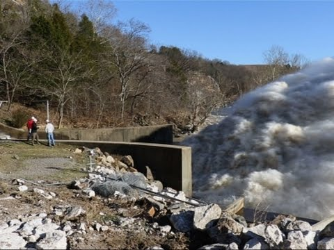 Raw: Raging Floodwater Released from Okla. Dam