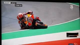 Moto gp 2018 caduta di Marc Marquez