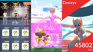 Here comes my boo boo! Alakazam vs Speed Deoxys trio (no weather boost)