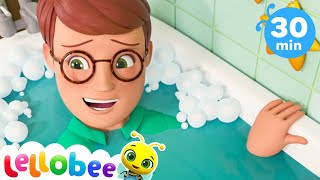 Baby Bath Song! +More Nursery Rhymes and Kids Songs - ABCs and 123s | Learn with Little Baby Bum