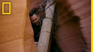 Joel McHale in a Slot Canyon | Running Wild With Bear Grylls