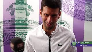 Novak Đoković Nakon Pobede nad Humbertom   Wimbledon 2019.   SPORT KLUB Tenis