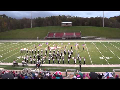 Morristown East High School Marching Band Oct 19th 2013 in Wise, VA