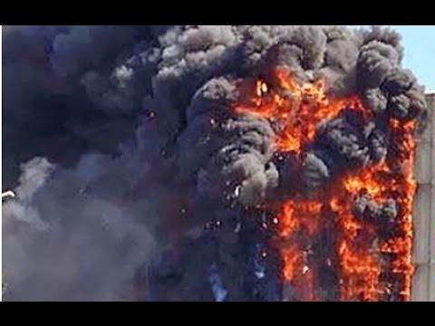 Пожар Одесса 'Гагарин Плаза' 29.08.15