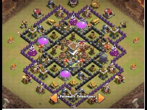 Clash Of Clans 2015 | TH8 War Base | THE END | Anti- Dragon | Anti- Hogs | Anti 3 Stars | Routing
