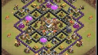 Clash of Clans 2015 | TH8 War Base | THE END | Anti- Dragon | Anti- Hogs | Anti 3 Stars | Routing