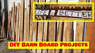 DIY Rustic home decor VLOG rustic barn boards & more with Kapper Outdoors