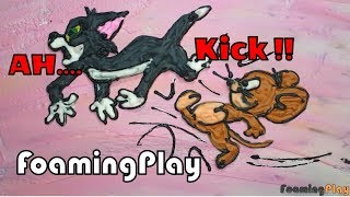 Jerry kick him out.... │Somebody help Tom.. │How to draw Tom and Jerry │FoamingPlay