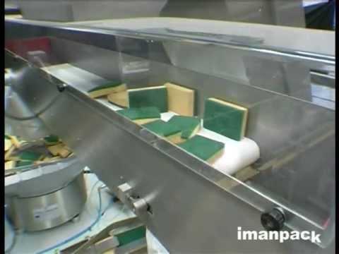 เครื่องแพ็คกิ้ง แผ่นใยขัดสก็อตไบร์ต Scotch Brite Packing Machine