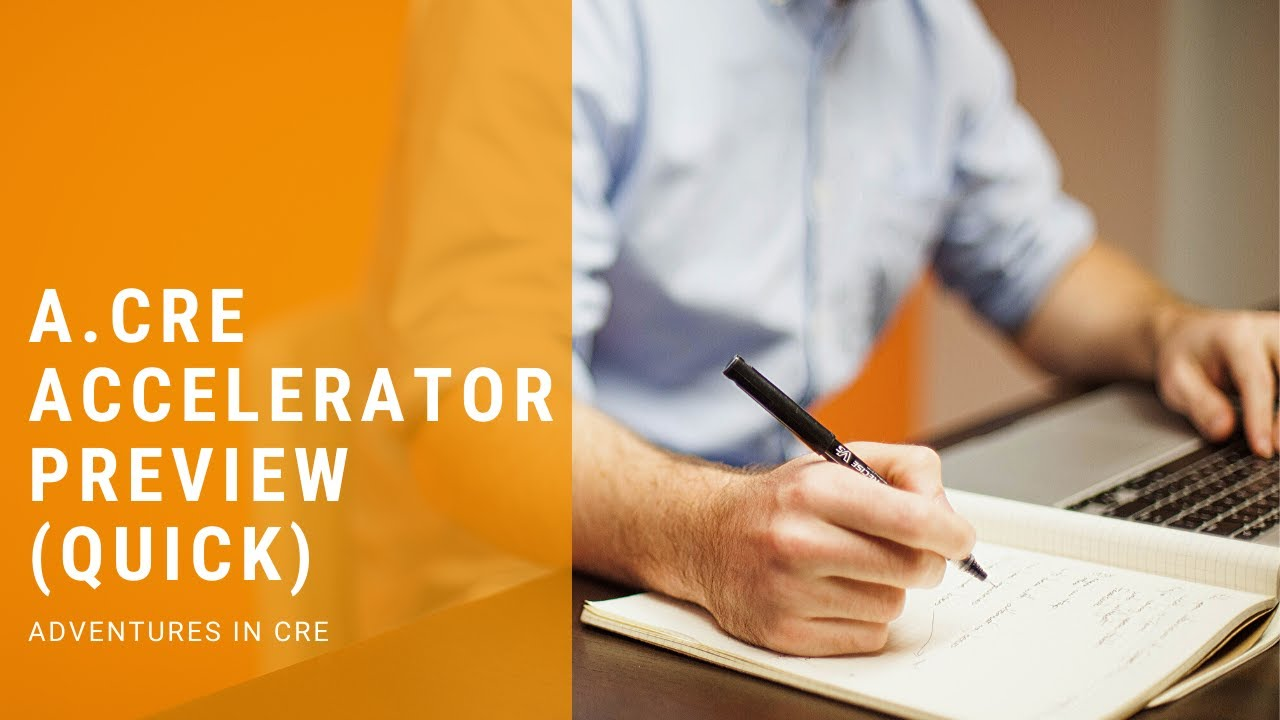 Real Estate Financial Modeling Courses - Accelerator Preview