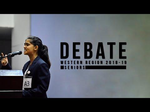 Seniors Debate | Western Region Debate Competition 2018-19