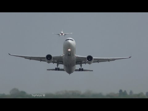 Boeing 767 WestJet Airlines impressive takeoff Most recent service from London