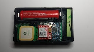 Real time GPS tracking using SIM800L GPRS module Video