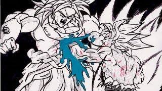 HOW TO DRAW BROLY VS GOKU ブロリー VS 孫悟空