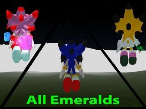 Crossover Sonic 3D RPG V3 - How To Find All Fake, Sol, And Chaos Emeralds.