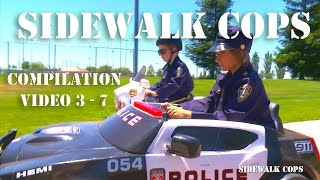 Sidewalk Cops | Compilation Episodes 3 - 7! | Kids Videos | Police kIds