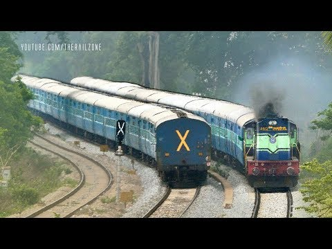 Perfect Crossing Trains | Twin Line | Indian Railways