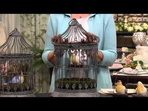 Choice of S/2 Decorative Metal Birdcages by Valerie on QVC