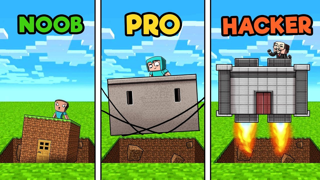 Roblox Create Your Own Security Base Hack Minecraft Secure Sinkhole Base Noob Vs Pro Vs Hacker Youtube