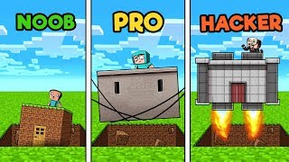 Minecraft - SECURE SINKHOLE BASE! (NOOB vs Pro vs HACKER)