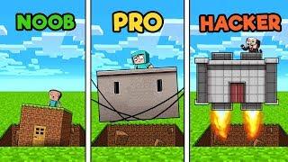 Minecraft - SECURE SINKHOLE BASE! (NOOB vs Pro vs HACKER)
