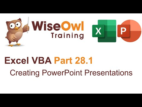 Excel VBA Introduction Part 28 - Creating PowerPoint Presentations