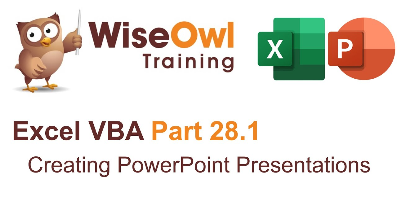 Excel vba introduction part 28 creating powerpoint presentations excel vba introduction part 28 creating powerpoint presentations toneelgroepblik Image collections
