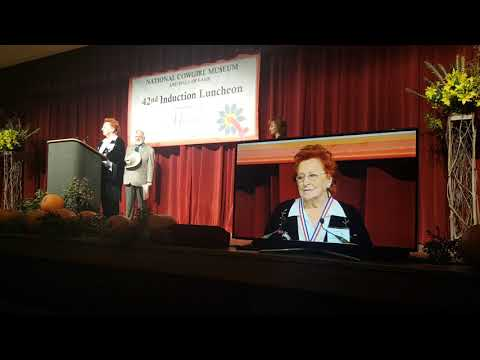 Jacqueline Smith McEntire Acceptance Speech at National Cowgirl Museum & Hall of Fame