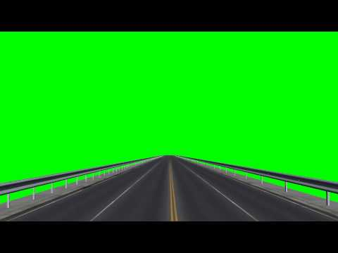 driving a Road / Highway - free green screen