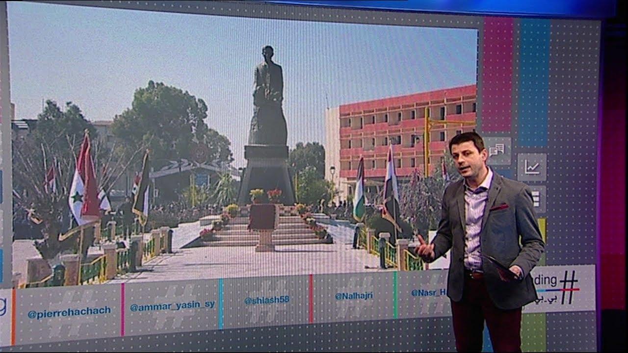 تمثال #حافظ_الأسد يثير احتجاجات جديدة في درعا جنوب سوريا   #بي_بي_سي_ترندينغ