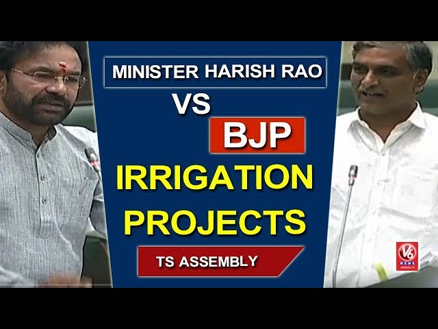 Harish Rao Vs BJP Leaders Over Irrigation Projects In Telangana | TS Assembly | V6 News