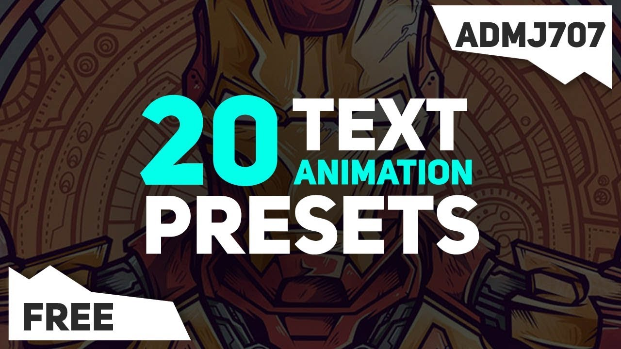 (FREE) 20 Text Animation Presets Pack - After Effects (Kinetic typography,  motion graphics text) #3