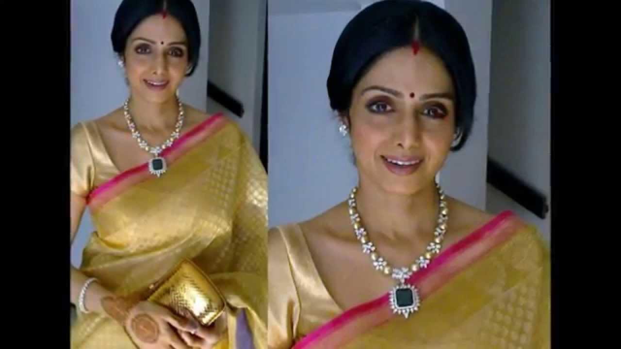 Actress Sridevi In Dazzling Designer Sarees Youtube