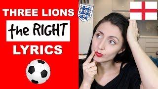Three Lions Lyrics - Football