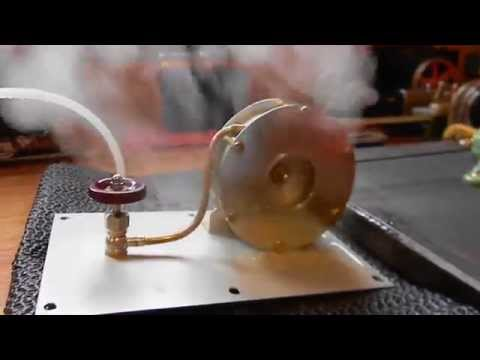 HOMEMADE STEAM TURBINE IN ACTION 1