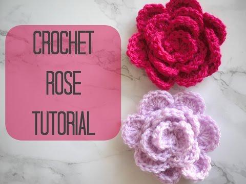 Crochet How To Crochet Rose Flower