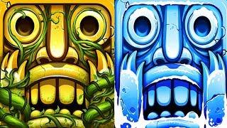 Temple Run 2 Sky Summit VS Frozen Festival Android iPad iOS Gameplay HD