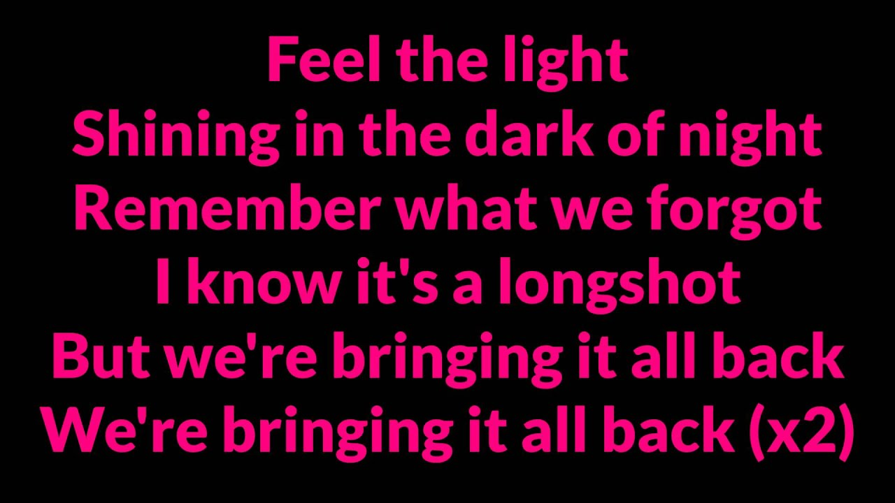 jennifer lopez 39 feel the light 39 lyrics sing along youtube. Black Bedroom Furniture Sets. Home Design Ideas