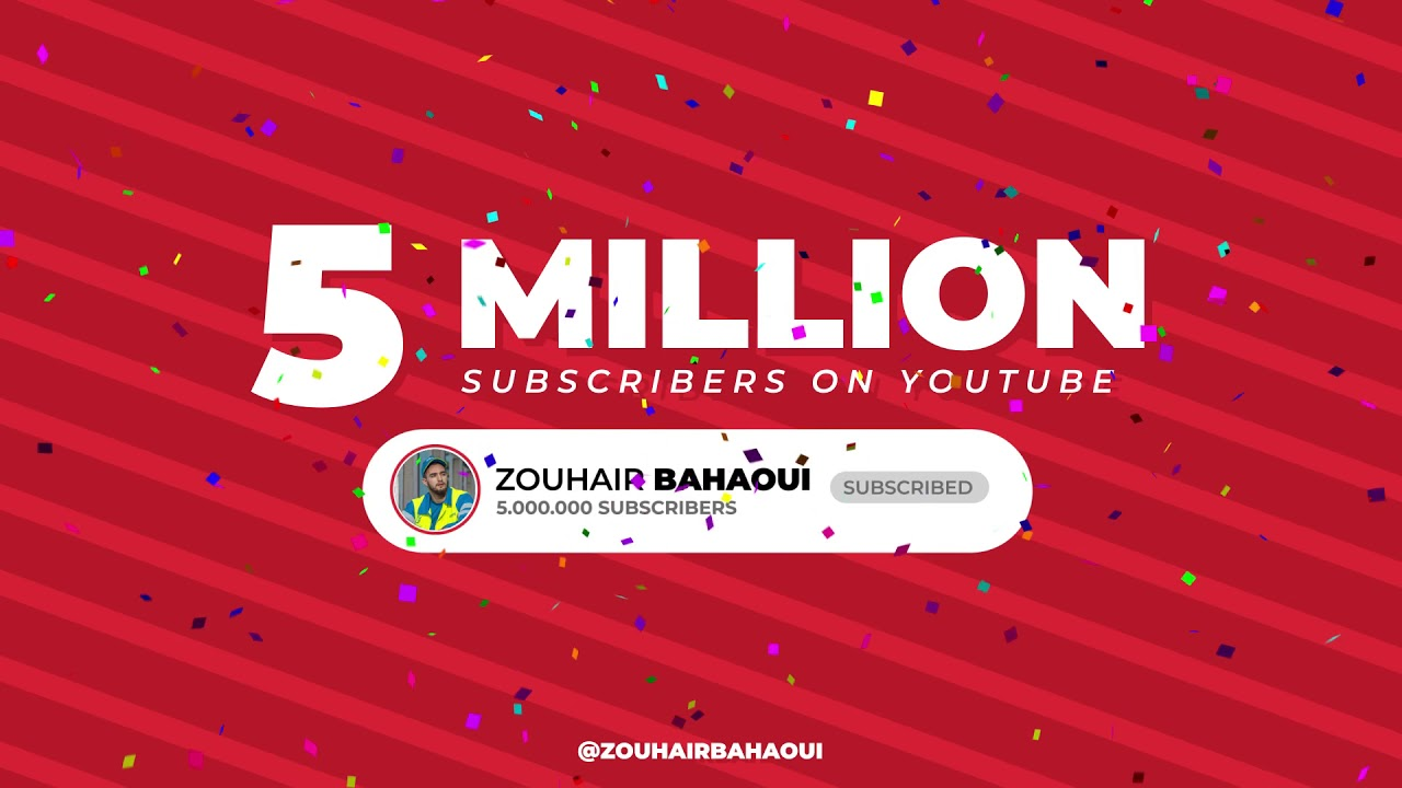 5 MILLION subscribers on my YouTube channel ❤️ I love you all 🤍