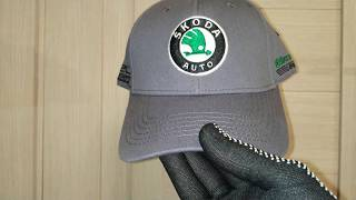 Обзор бейсболки с логотипом Шкода (кепки Skoda)