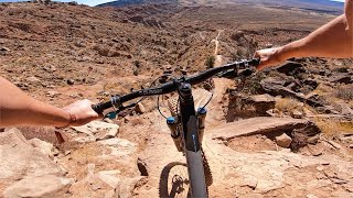 RIDING CRAZY STEEP MTB LINES IN THE RAMPAGE DESERT!!