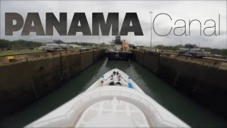 Time lapse of a Super Yacht passing through the Panama Canal