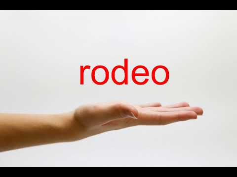 How to Pronounce rodeo - American English