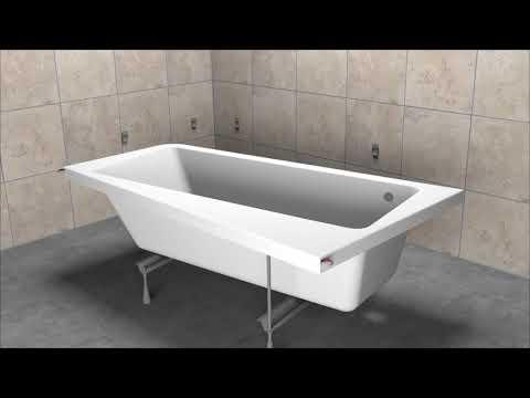 Установка ванны акриловой Ravak 10° без гидромассажа
