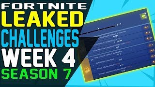 "Fortnite CHALLENGES WEEK 4 SEASON 7 LEAKED, Launch Fireworks, Search the Letter ""NOMS"" Sign"
