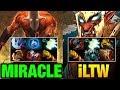 Miracle- [Juggernaut] VS iLTW [Trollwarlord] Full Slotted Carries Dota 2